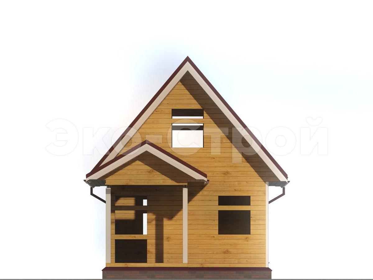 Дом из бруса ДУ 036 вид 4