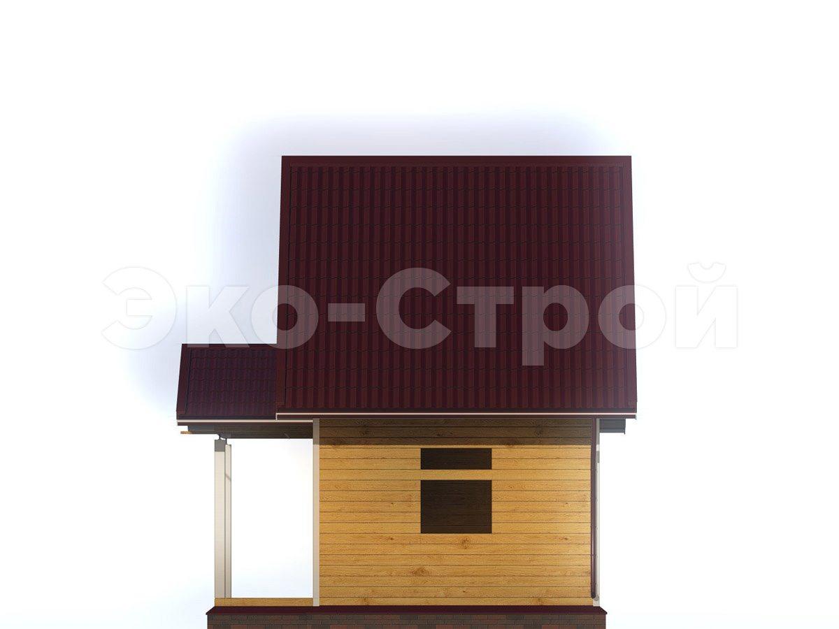 Дом из бруса ДУ 036 вид 3