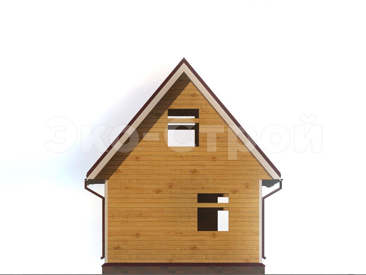 Дом из бруса ДУ 036 вид 2