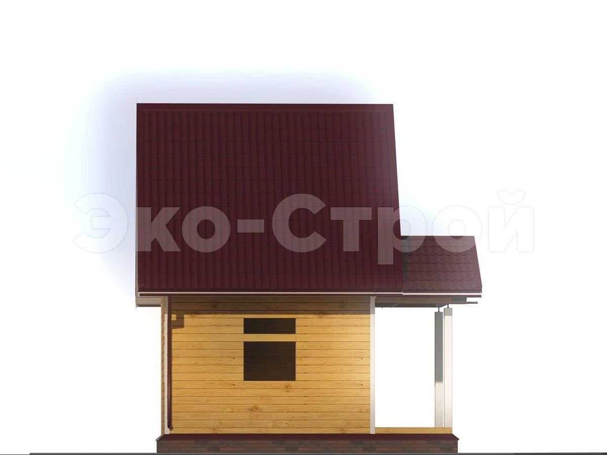 Дом из бруса ДУ 036 вид 1