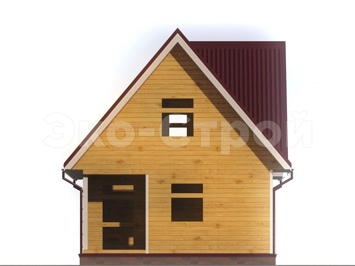 Дом из бруса ДУ 037 вид 4