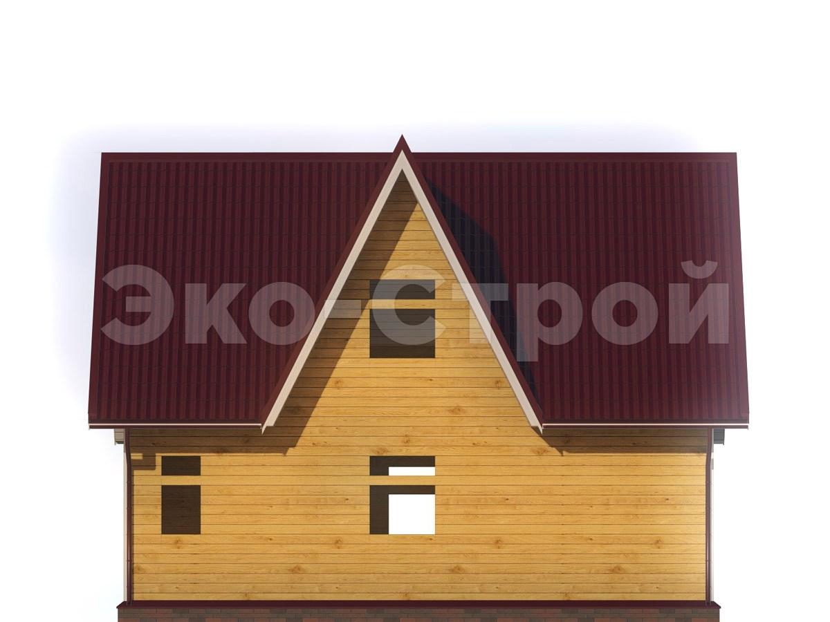 Дом из бруса ДУ 037 вид 3