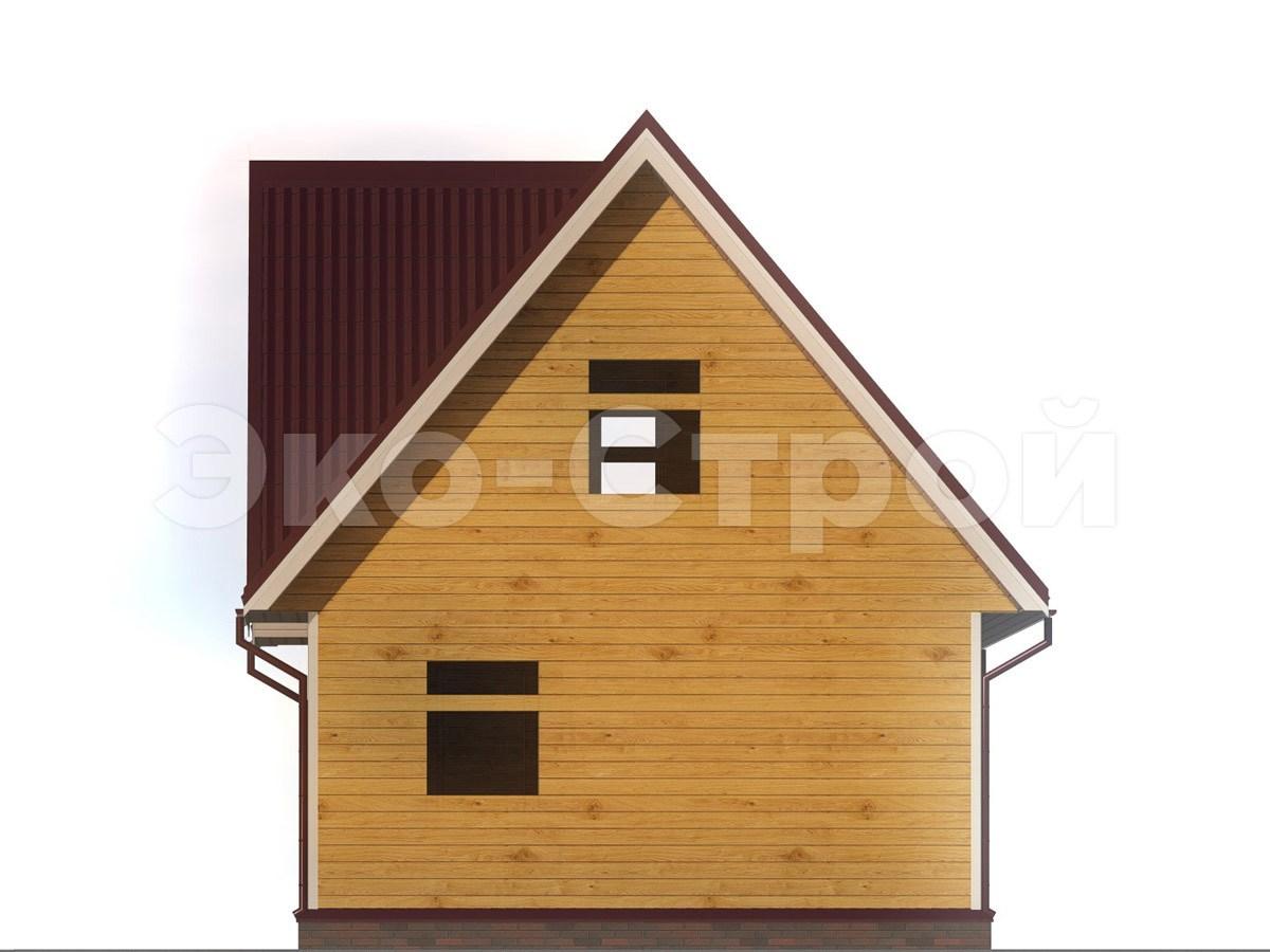 Дом из бруса ДУ 037 вид 2