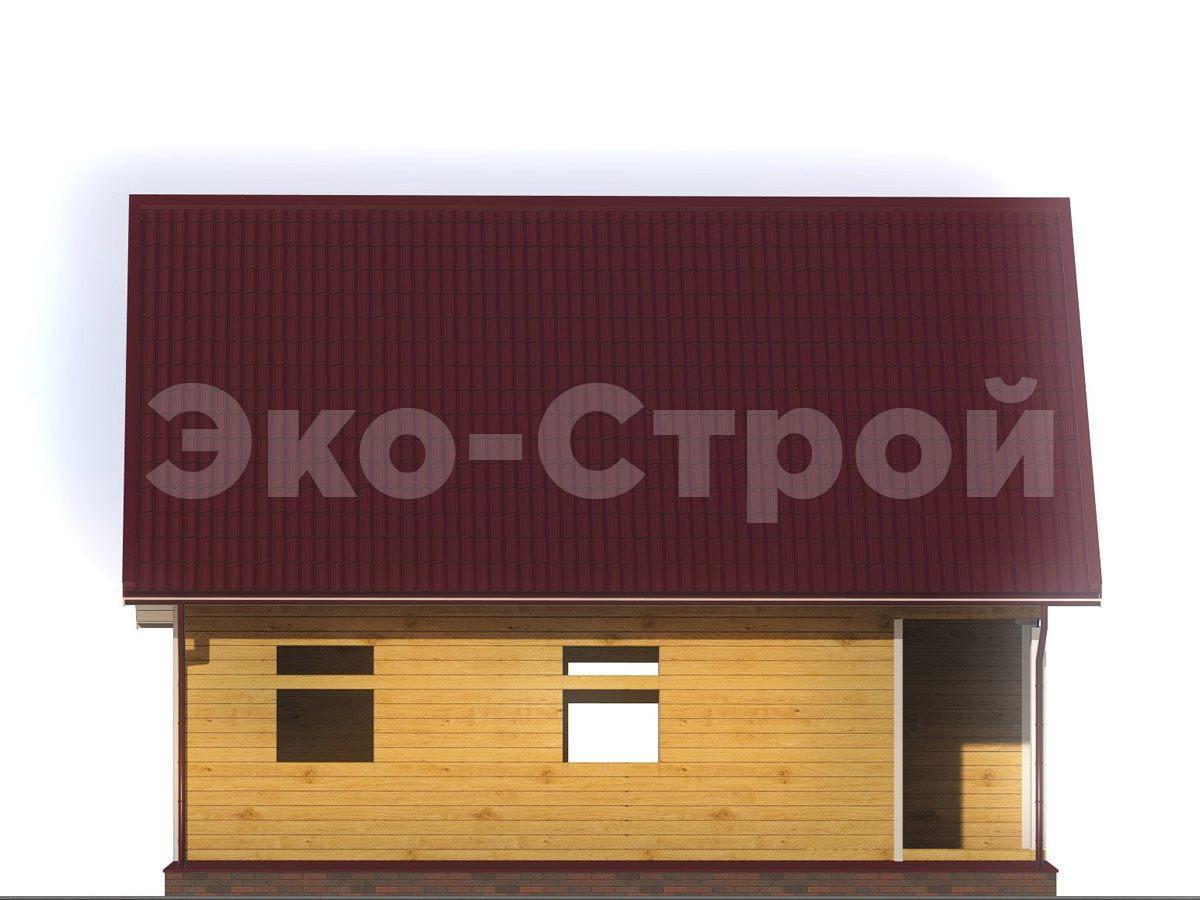 Дом из бруса ДУ 037 вид 1