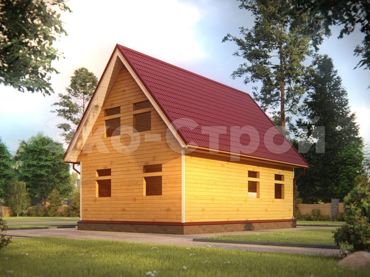 Дом из бруса ДУ 038 под усадку