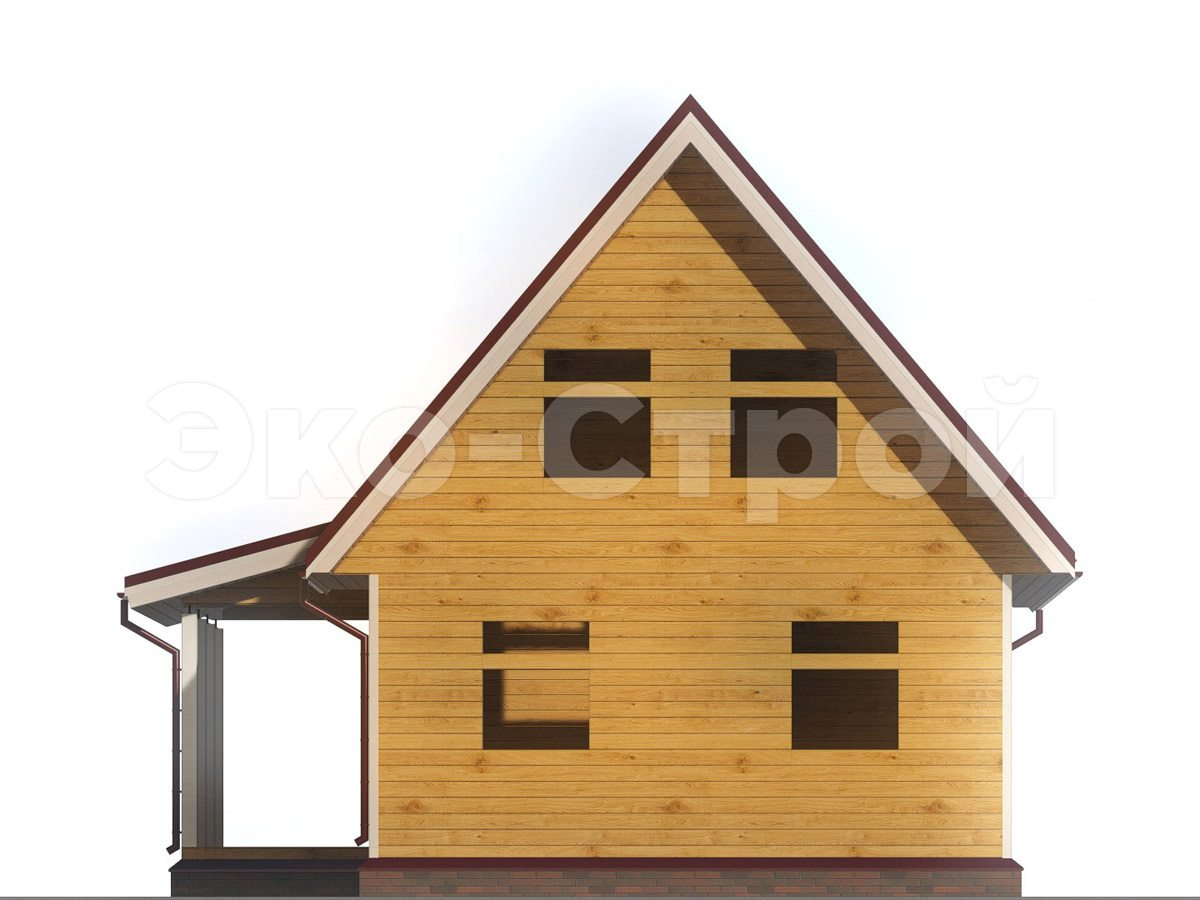 Дом из бруса ДУ 038 вид 4