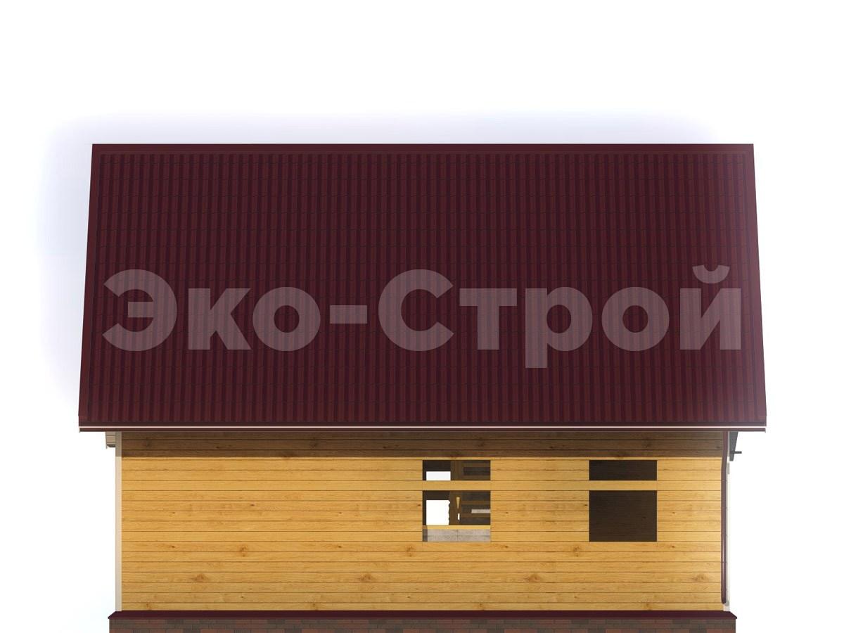 Дом из бруса ДУ 038 вид 3