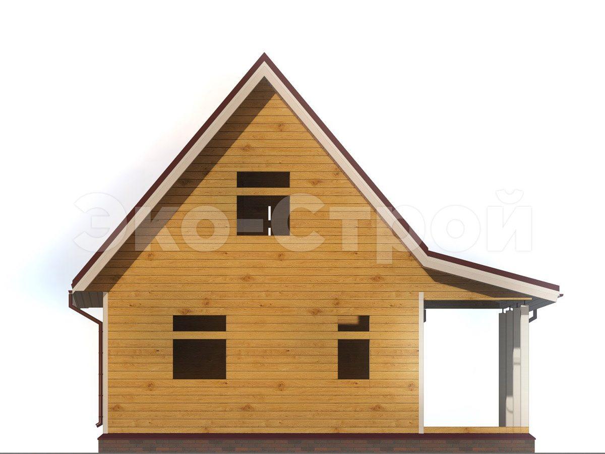 Дом из бруса ДУ 038 вид 2