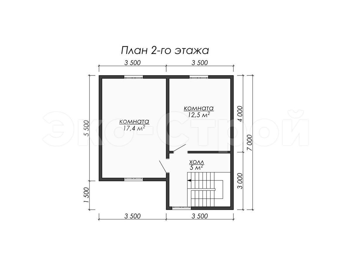 Дом из бруса ДУ 039 план 2 эт