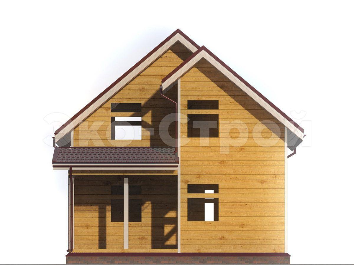 Дом из бруса ДУ 039 вид 4