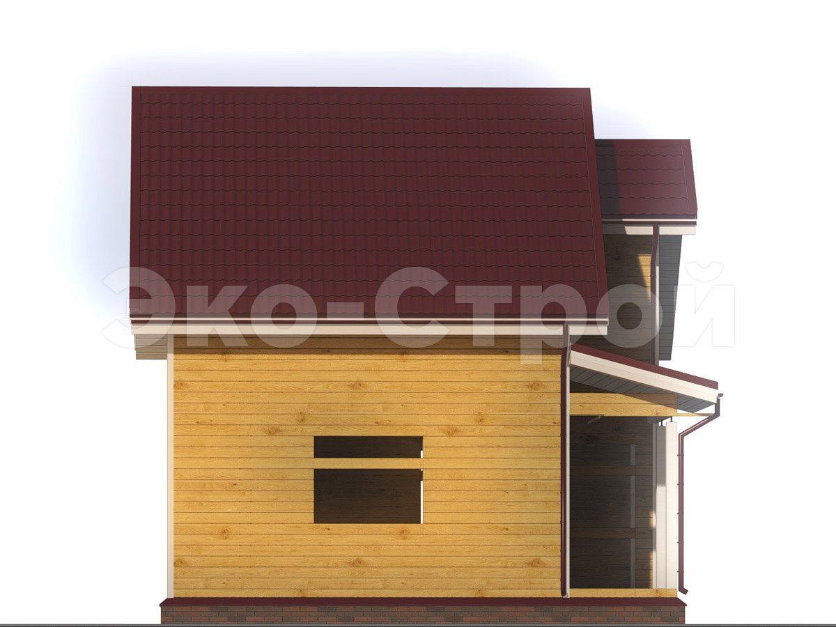Дом из бруса ДУ 039 вид 1