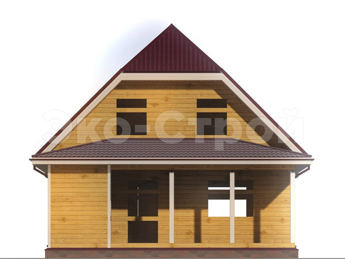 Дом из бруса ДУ 040 вид 4