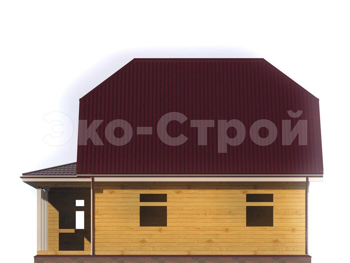 Дом из бруса ДУ 040 вид 3