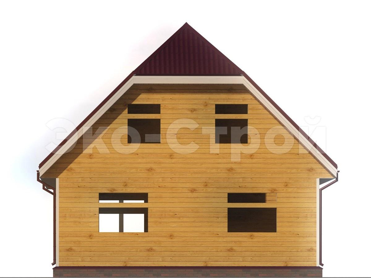 Дом из бруса ДУ 040 вид 2