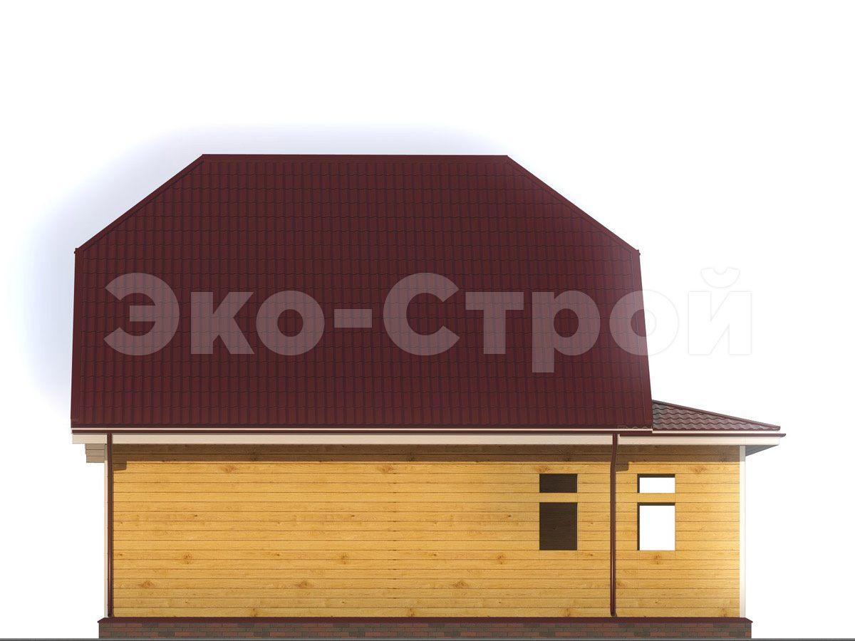Дом из бруса ДУ 040 вид 1