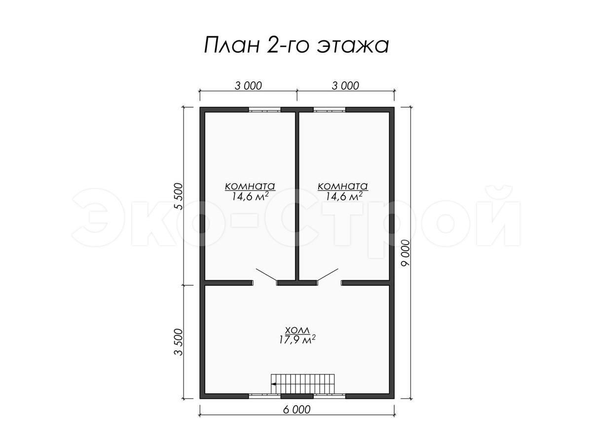 Дом из бруса ДУ 041 план 2 эт