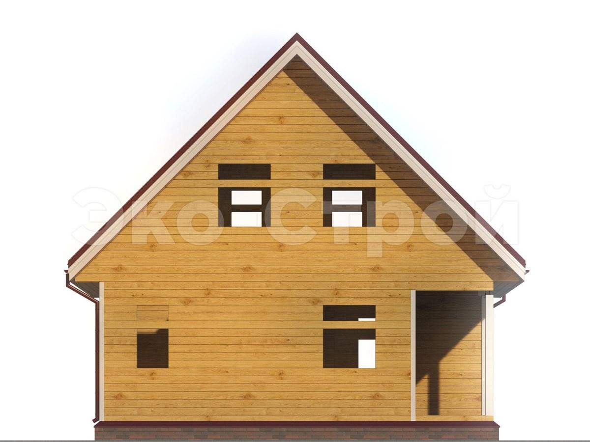 Дом из бруса ДУ 041 вид 4