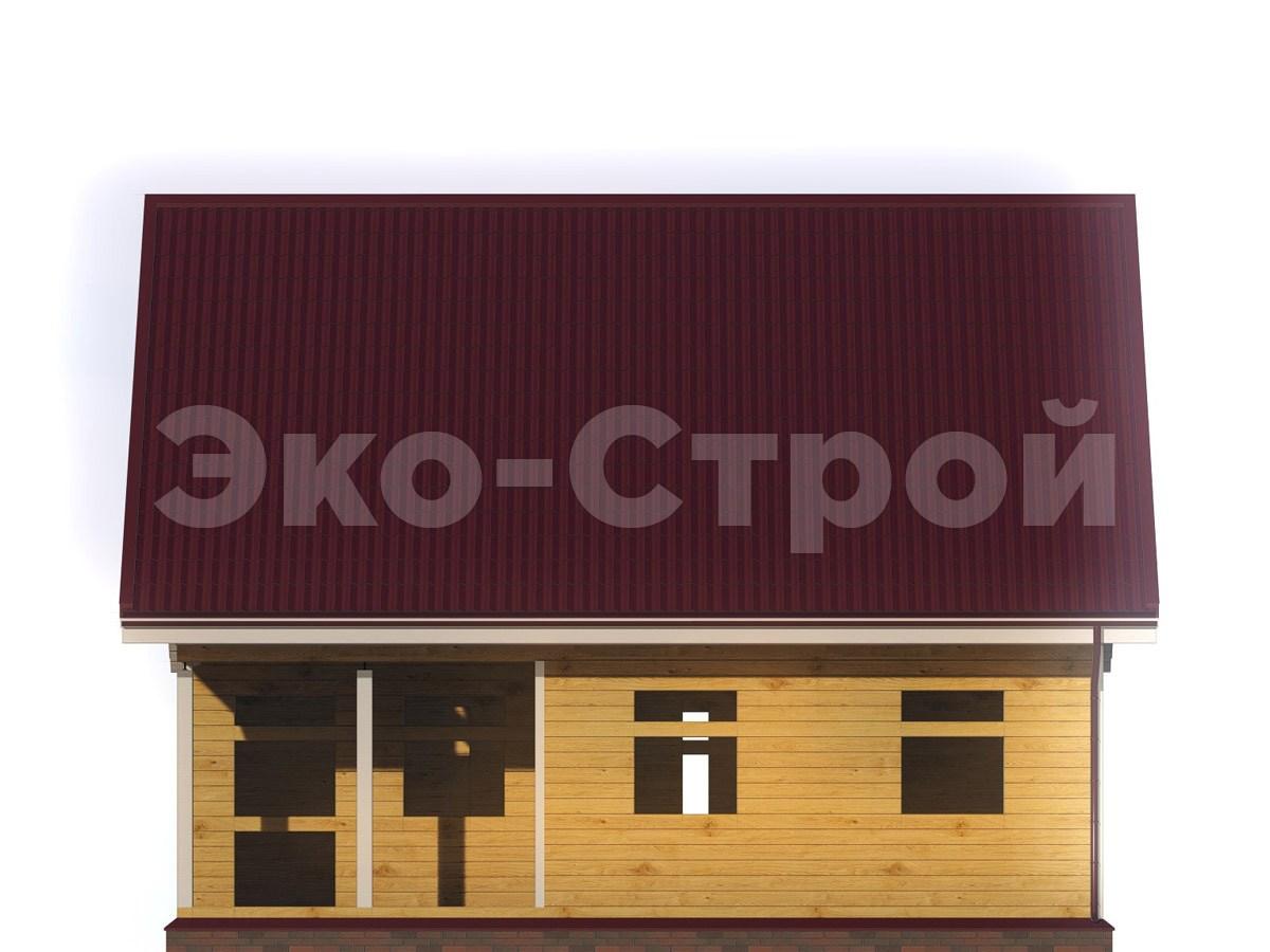 Дом из бруса ДУ 041 вид 3