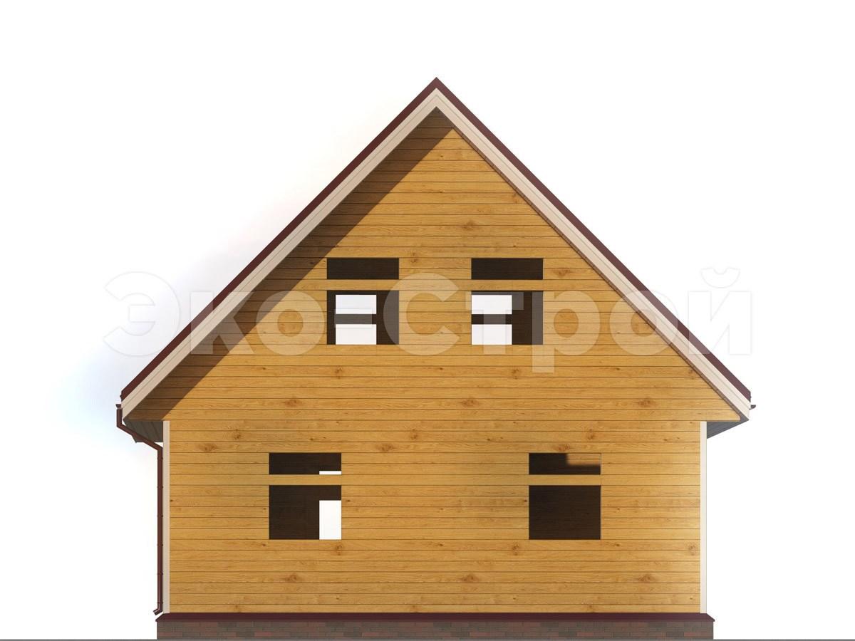 Дом из бруса ДУ 041 вид 2