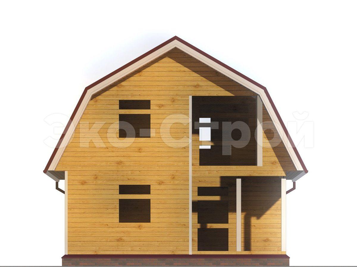 Дом из бруса ДУ 042 вид 4