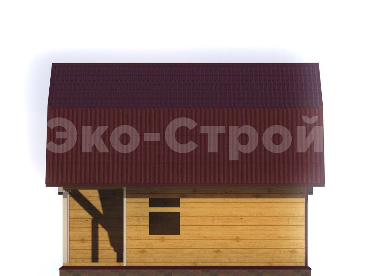 Дом из бруса ДУ 042 вид 3