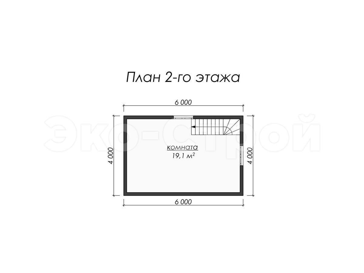 Дом из бруса ДУ 043 план 2 эт