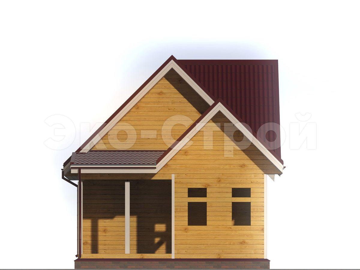 Дом из бруса ДУ 043 вид 4