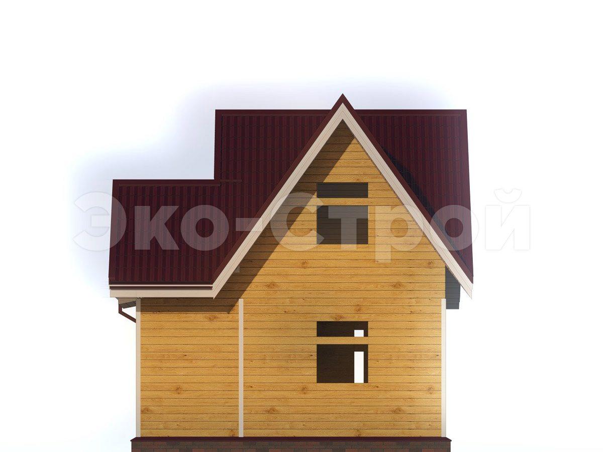 Дом из бруса ДУ 043 вид 3