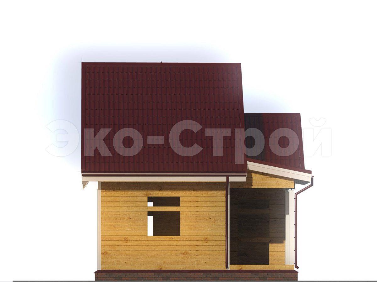 Дом из бруса ДУ 043 вид 1