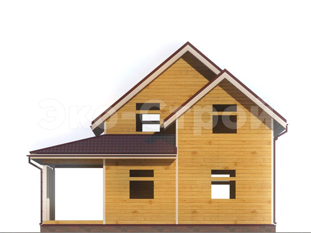 Дом из бруса ДУ 044 вид 4