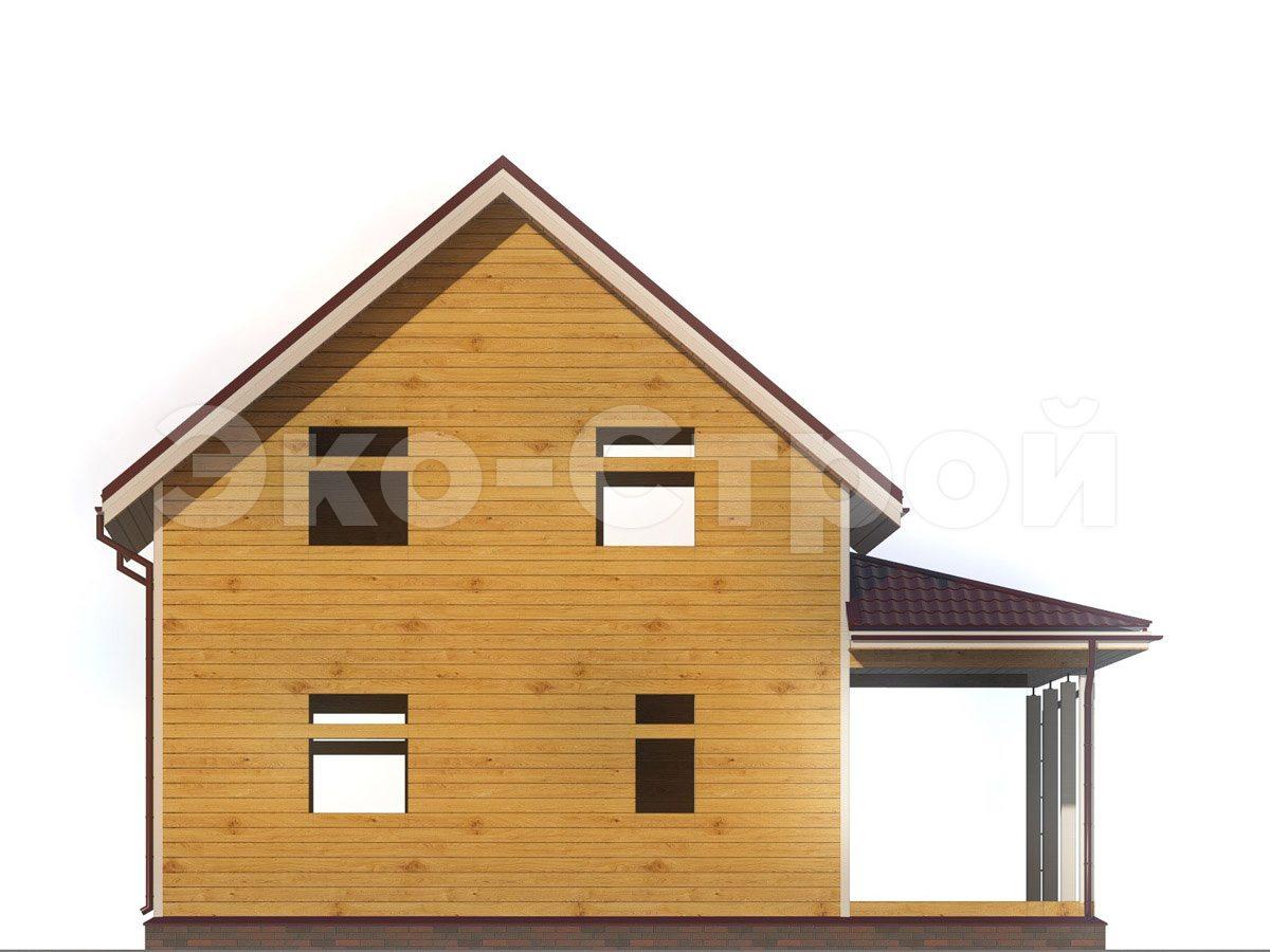 Дом из бруса ДУ 044 вид 2