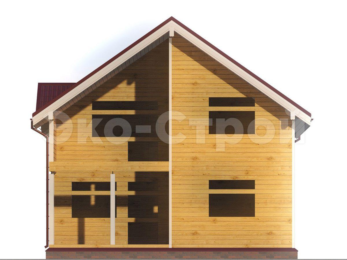 Дом из бруса ДУ 045 вид 4