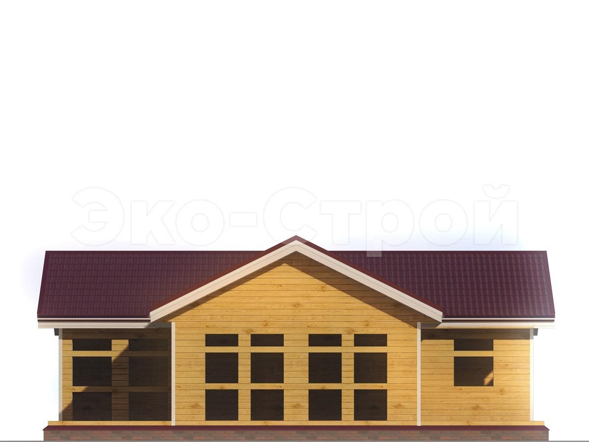 Дом из бруса ДУ 046 вид 4