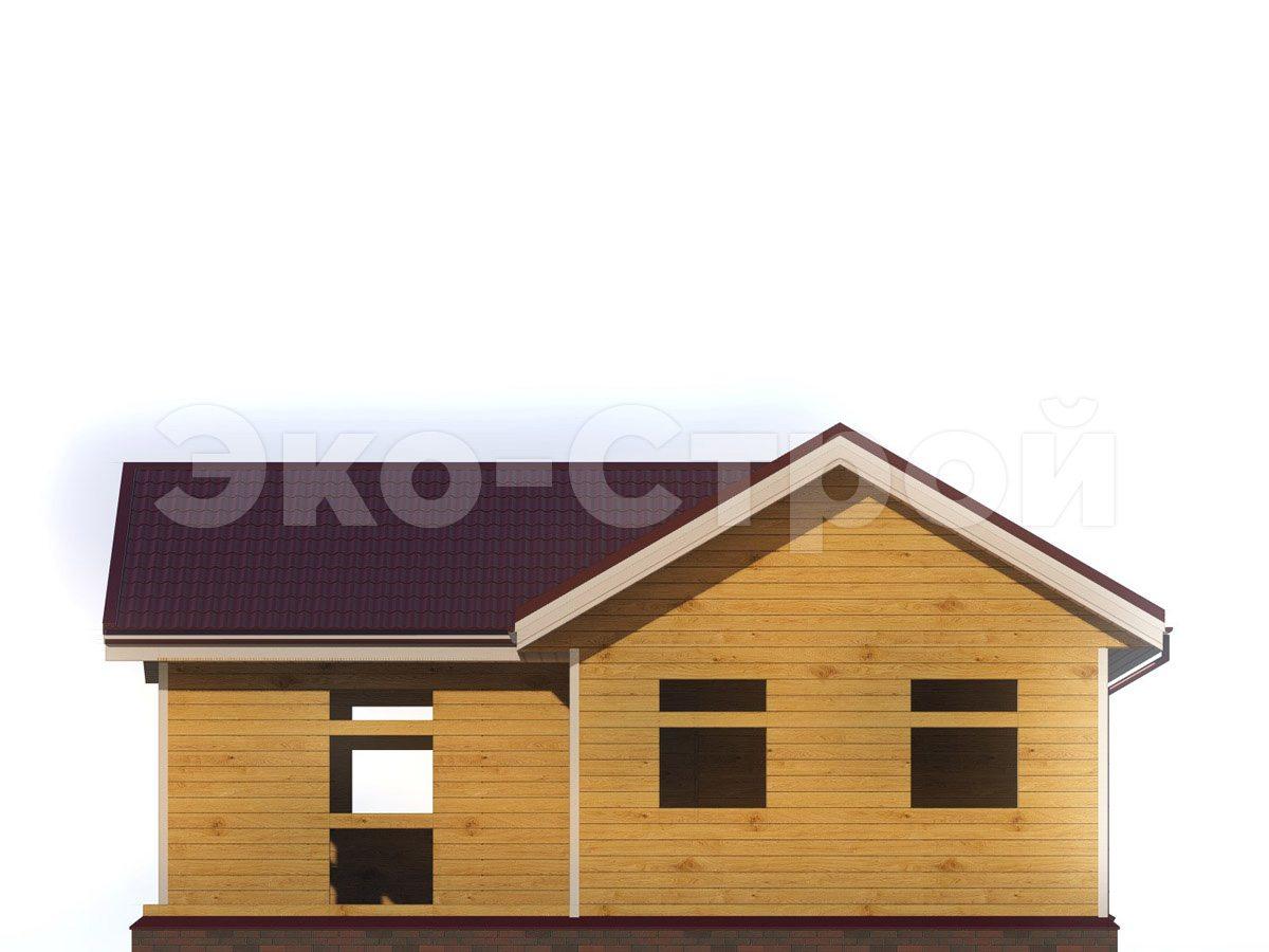 Дом из бруса ДУ 046 вид 3