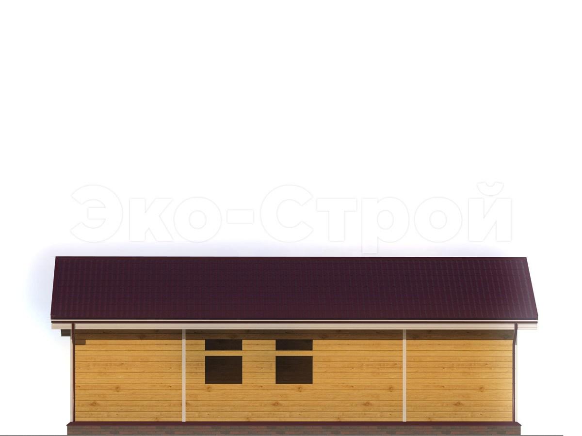 Дом из бруса ДУ 046 вид 2