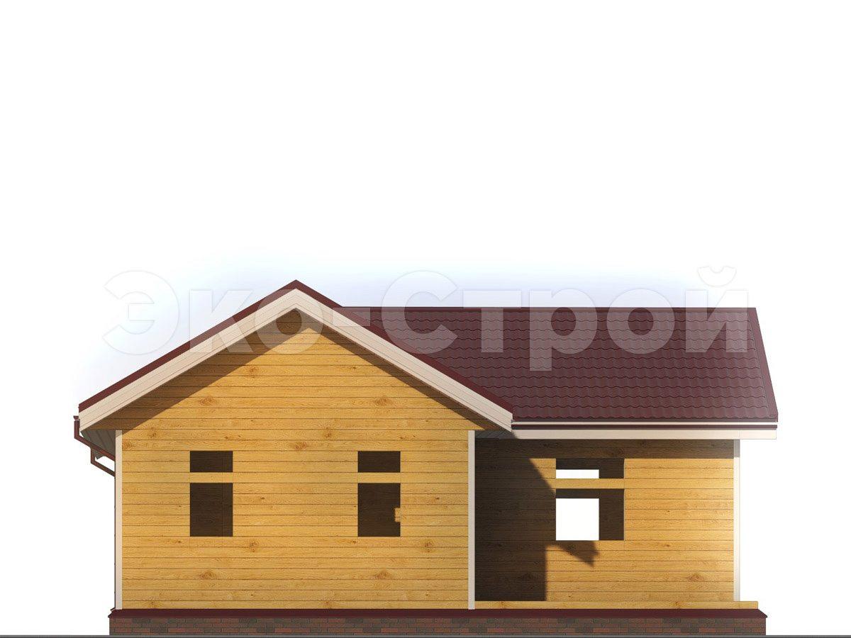 Дом из бруса ДУ 046 вид 1
