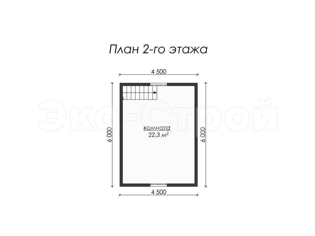 Дом из бруса ДУ 047 план 2 эт