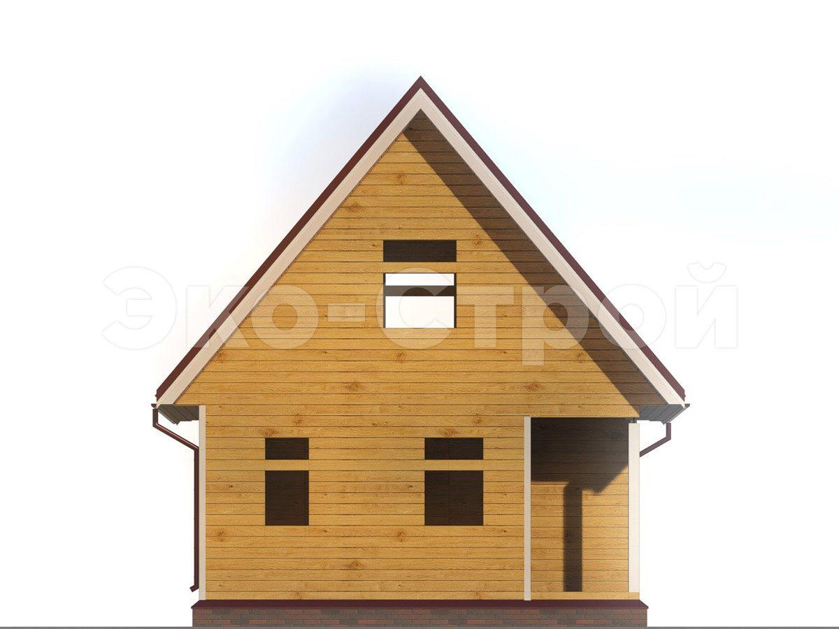 Дом из бруса ДУ 047 вид 4