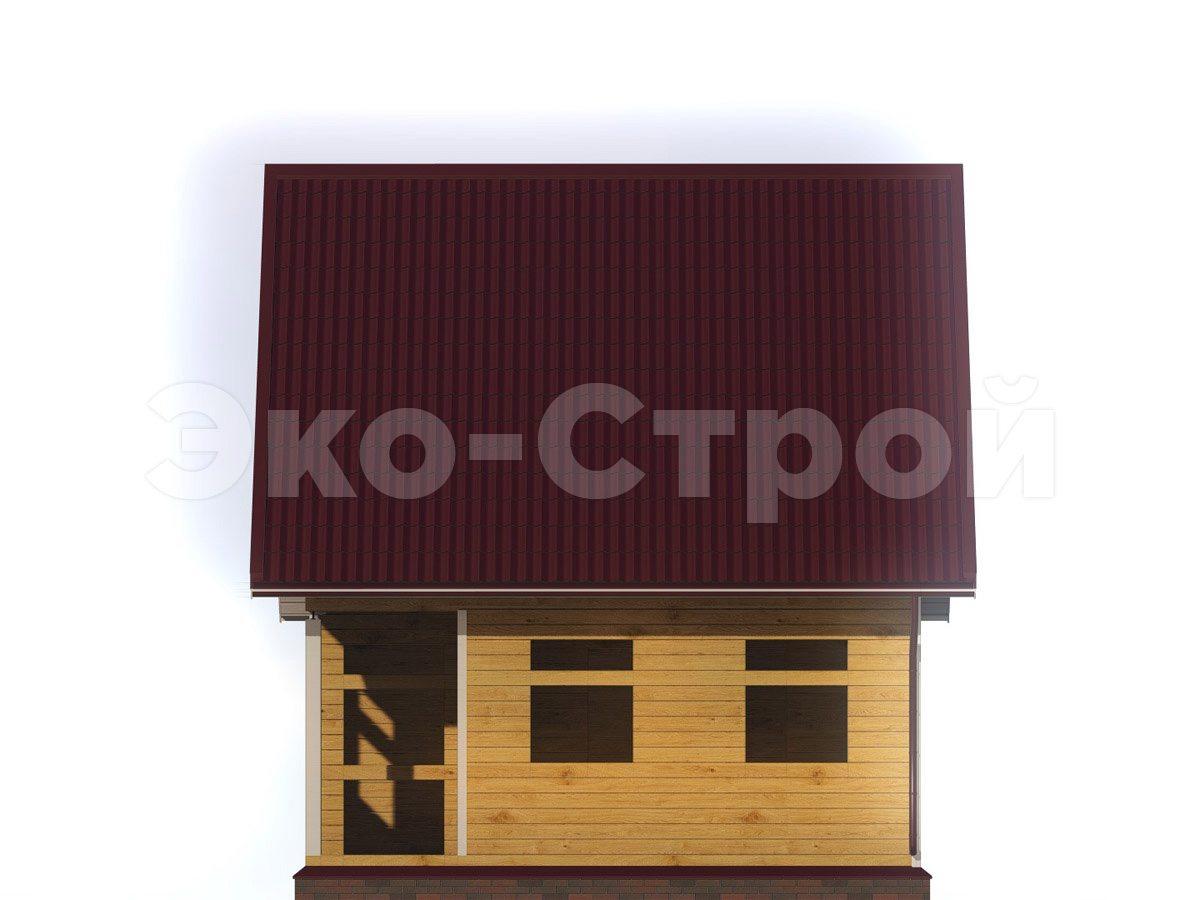 Дом из бруса ДУ 047 вид 3