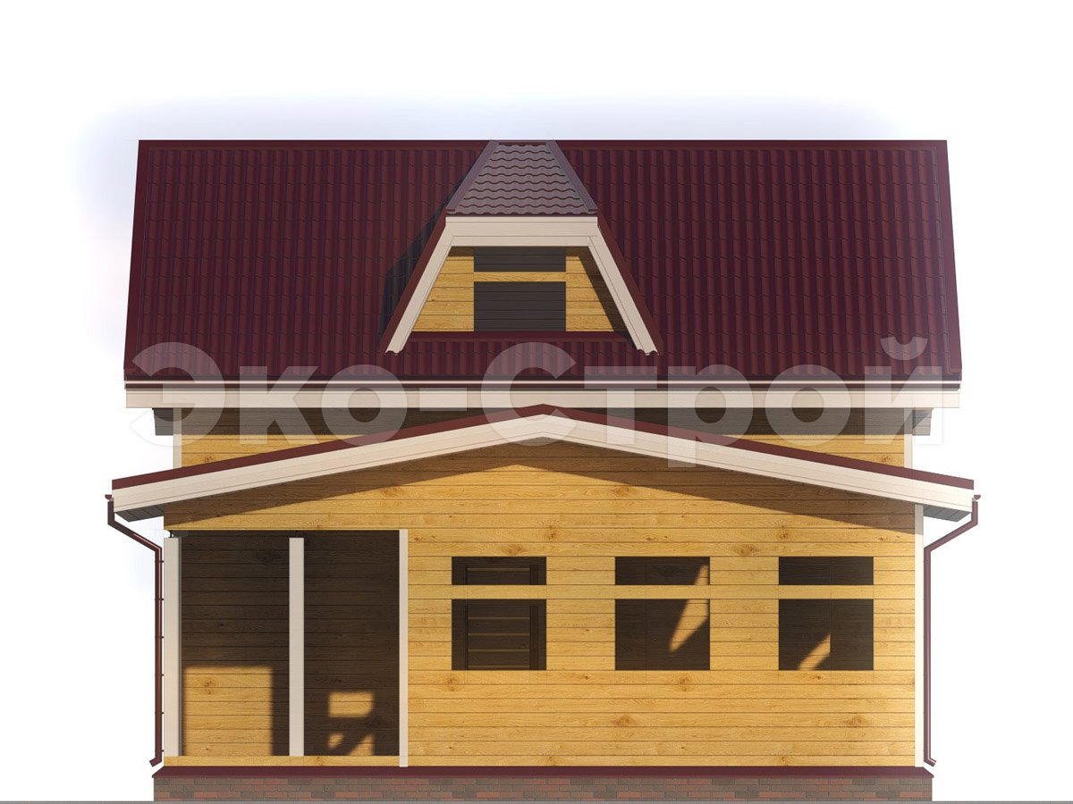 Дом из бруса ДУ 048 вид 4