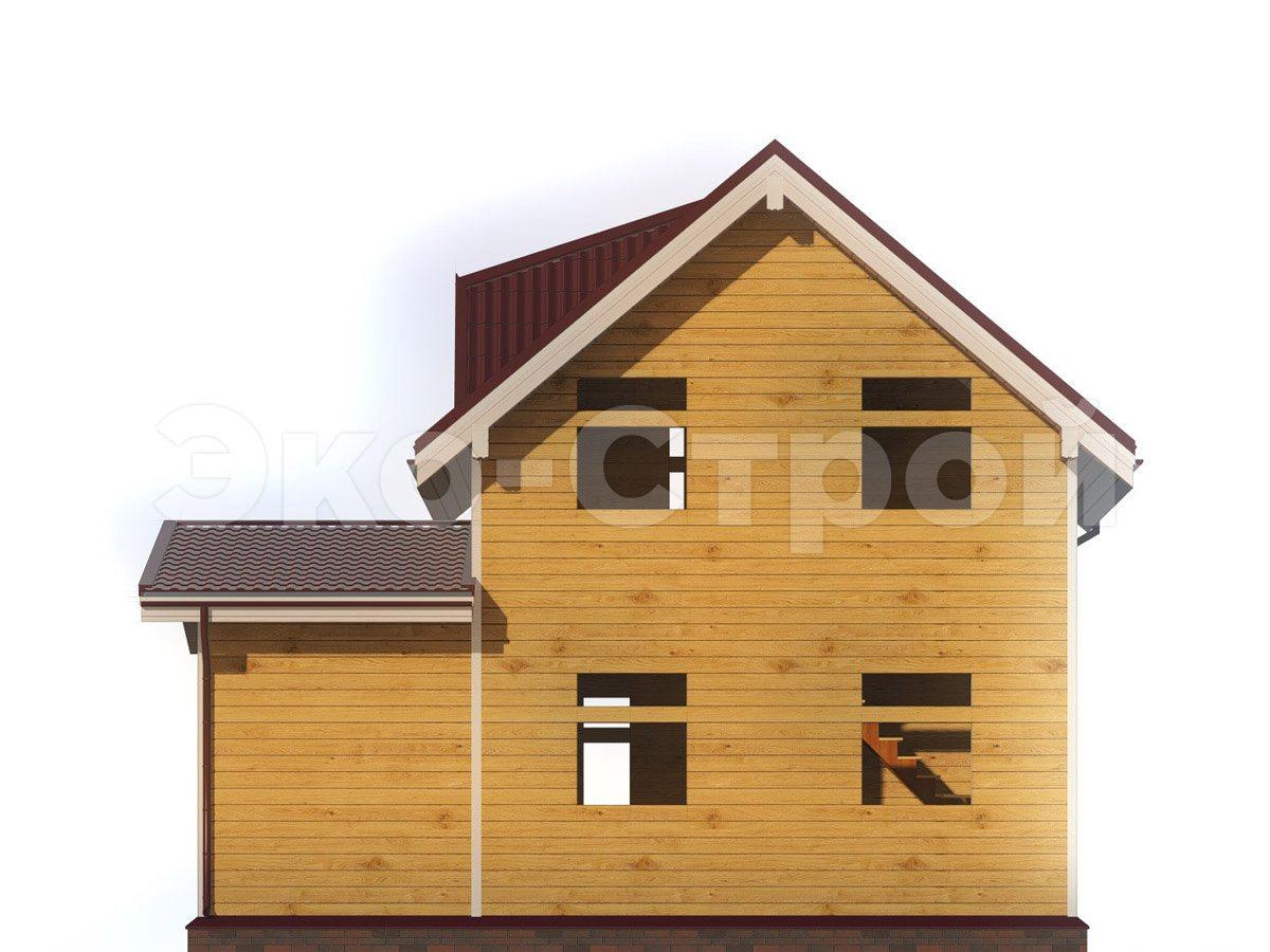 Дом из бруса ДУ 048 вид 3