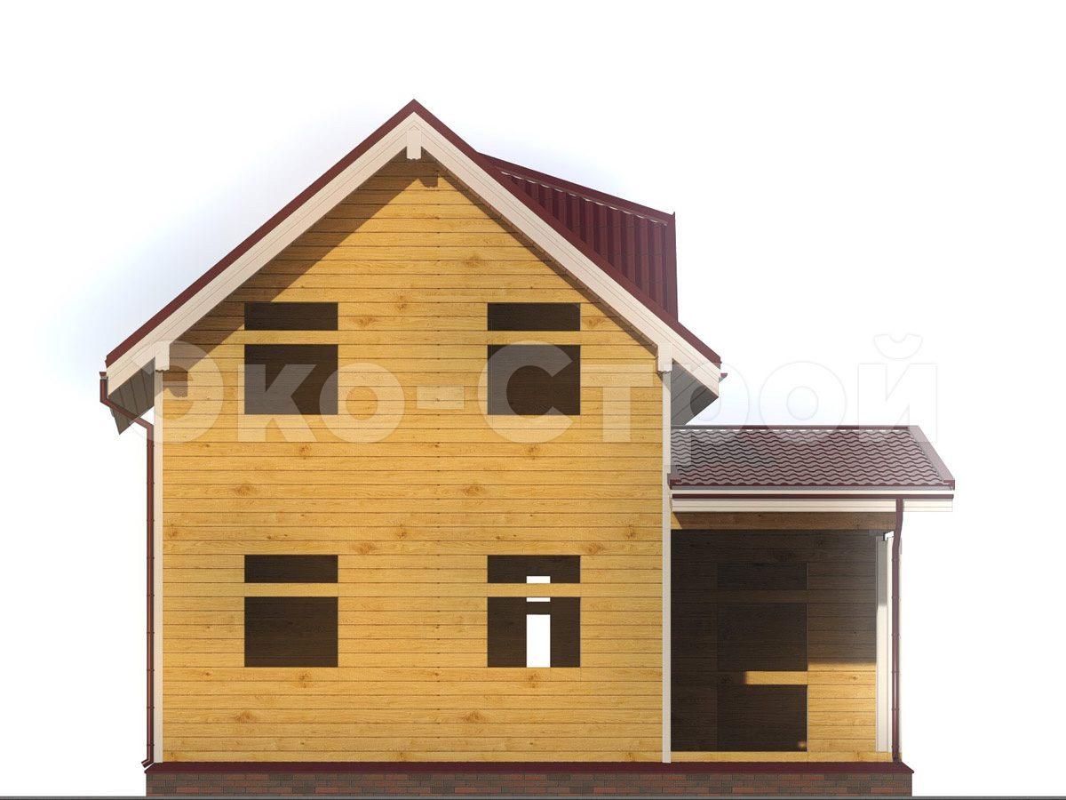 Дом из бруса ДУ 048 вид 1