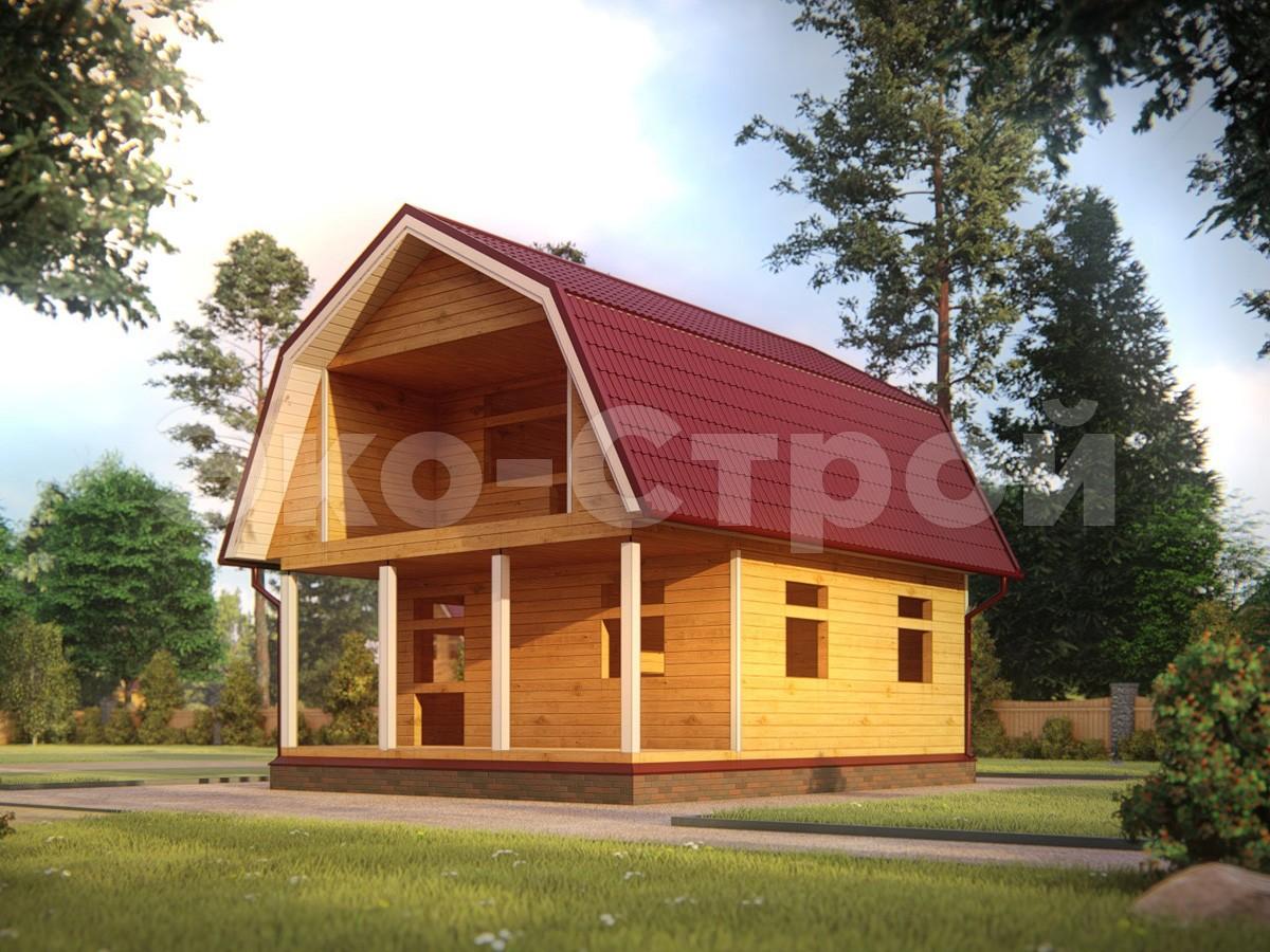 Дом из бруса ДУ 049