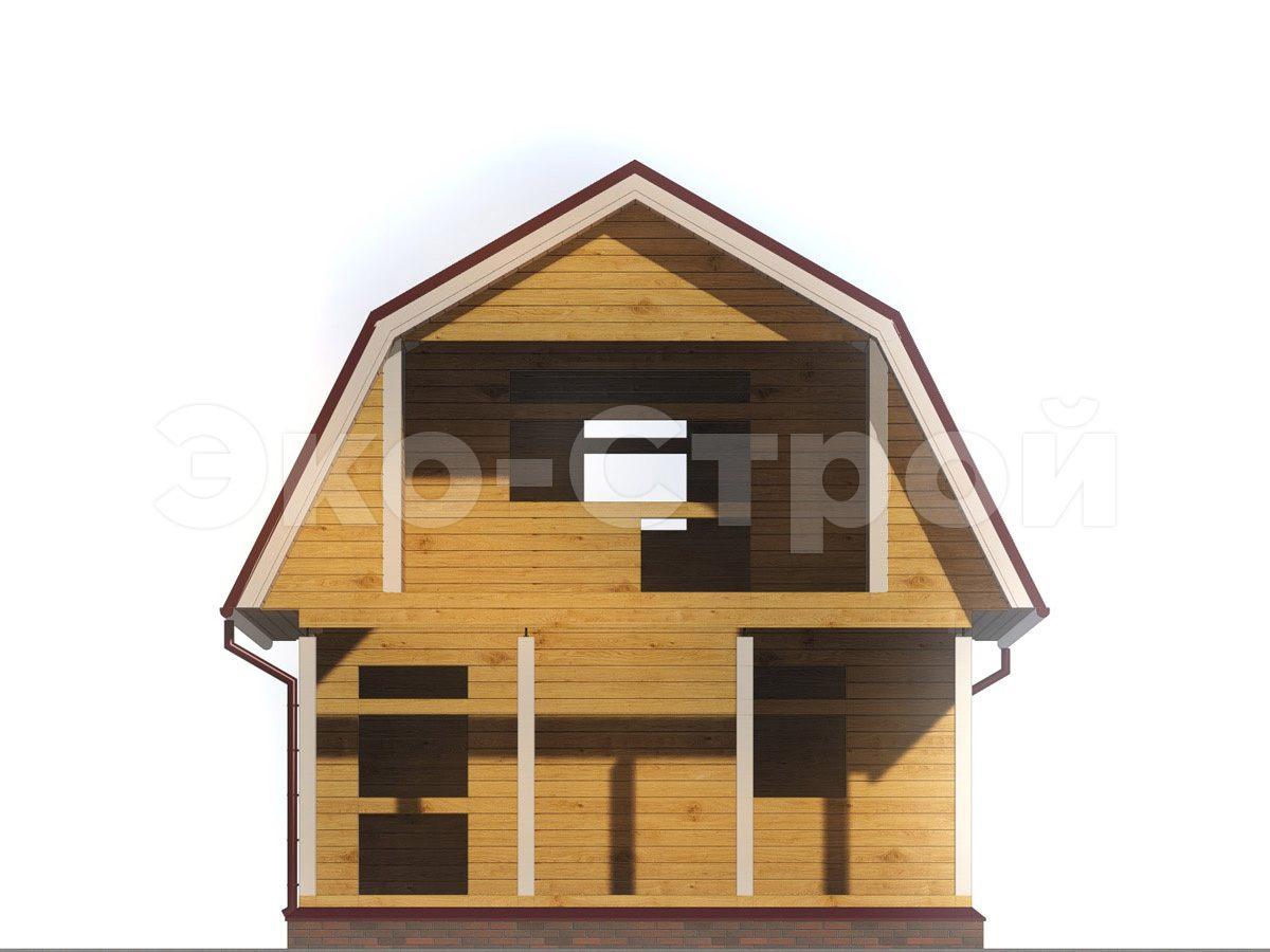 Дом из бруса ДУ 049 вид 4
