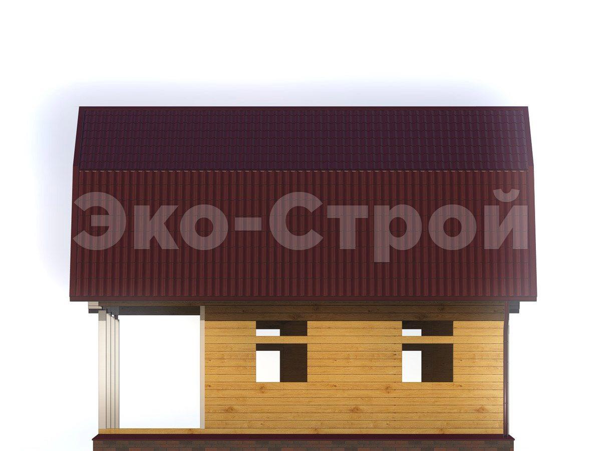 Дом из бруса ДУ 049 вид 3