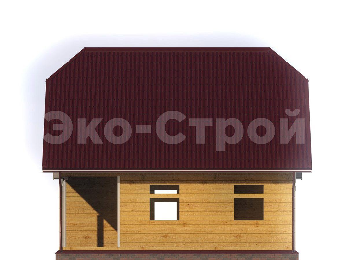 Дом из бруса ДУ 050 вид 3