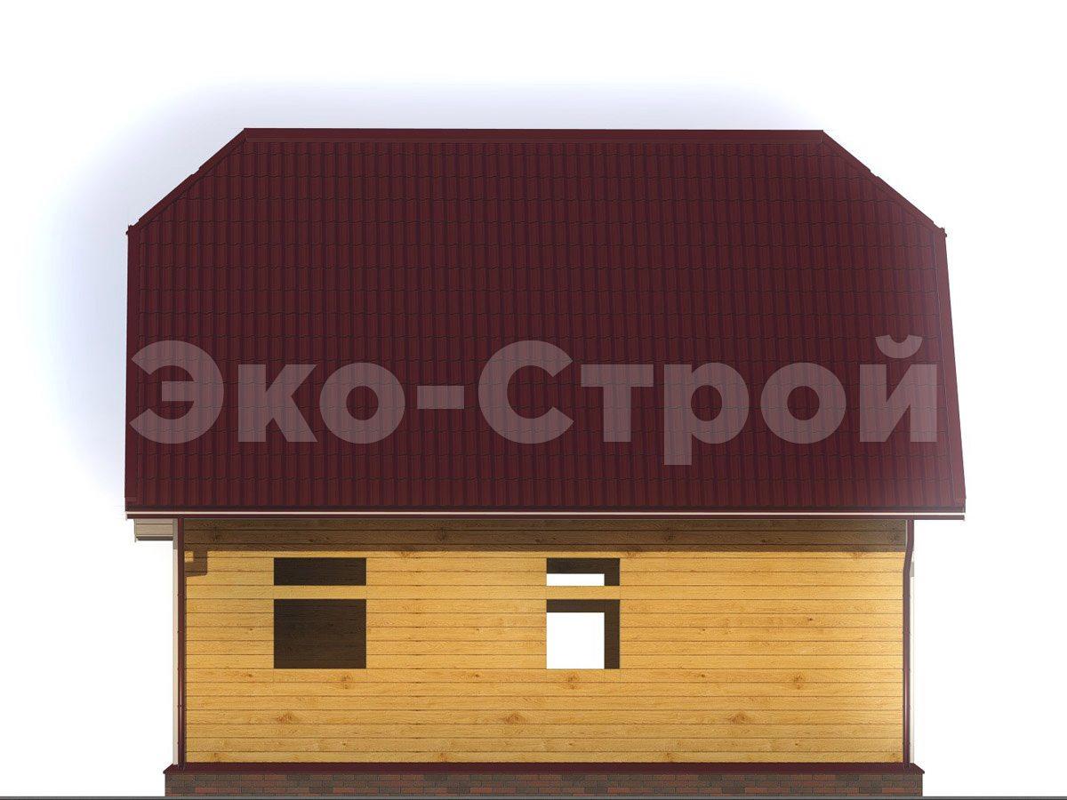 Дом из бруса ДУ 050 вид 1