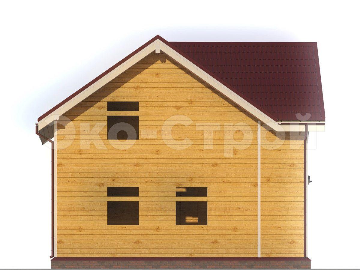 Дом из бруса ДУ 051 вид 1