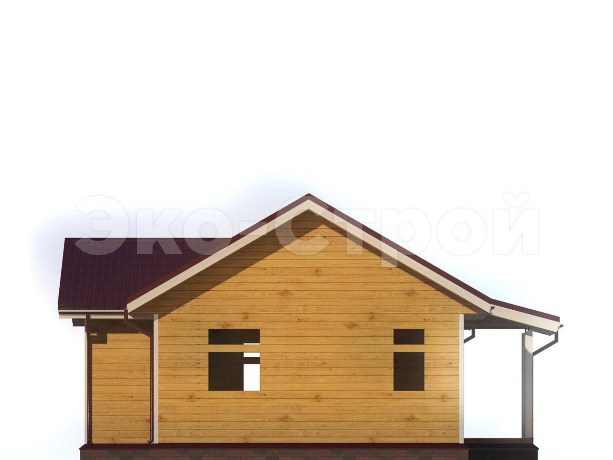 Дом из бруса ДУ 052 вид 3