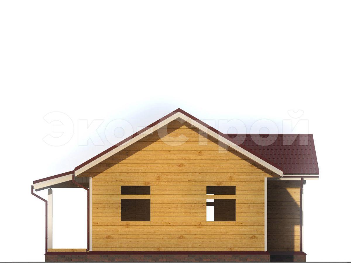 Дом из бруса ДУ 052 вид 1